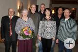 Seit vielen Jahren ein Team: Seniorchef Horst Rauter mit Gattin Renate, Martin Rauter, Patrick Mutschler, Sylvia Eberhardt, Jörg Wurster und Uwe Weigold.