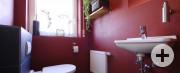 Putz und Lasur auf Fliesen, Gästetoilette im Wohnhaus Bollert, Nordstetten